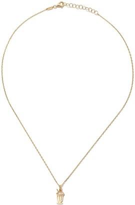 As 29 14kt yellow gold diamond Milkshake necklace