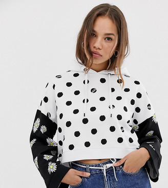 Vans Exclusive daisy spot hoodie-White