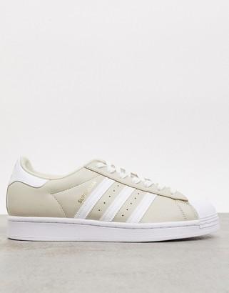 adidas superstar sneakers in beige