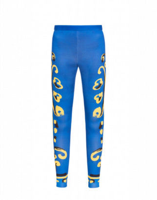 Moschino Scuba Leggings Matador Woman Blue Size 38 It - (4 Us)