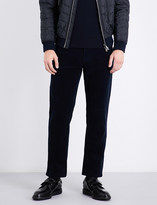 Salvatore Ferragamo Regular-fit corduroy cotton trousers