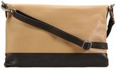 Hadaki Semolina & Black Primavera Leather Clutch