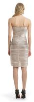 BCBGMAXAZRIA Champagne Hypnotizer Dress