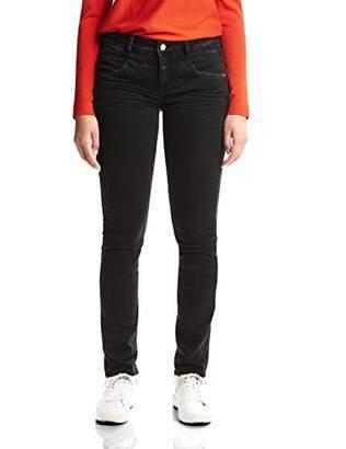 Street One Women's 371878 Jane Slim Jeans, (Black Basic Wash 11695), W29/L30 (Size: 29)