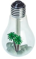 Air Humidifier Ainingshi 400ML USB Bulb Humidifier Portable Desktop LED 7 Color Night Lights Diffuser Mist Office Room for Applicable to Any Place