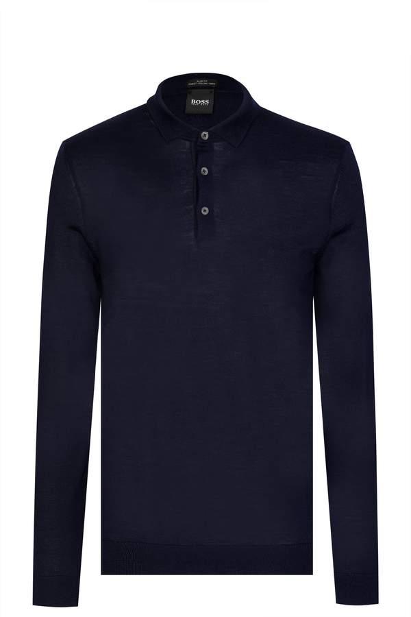 542ff9cf Hugo Boss Long Sleeve Polo Shirts - ShopStyle UK