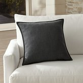 "Crate & Barrel Sunbrella ® Charcoal 20"" Sq. Outdoor Pillow"