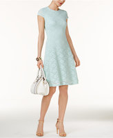 Alfani Petite Lace Fit & Flare Dress, Only at Macy's