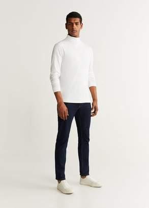 MANGO MAN - Stand collar t-shirt off white - XS - Men