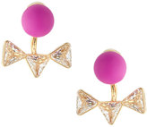 Lydell NYC Golden Ball & Crystal Triangle Jacket Stud Earrings, Pink