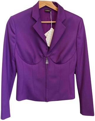 La Perla Purple Wool Jacket for Women