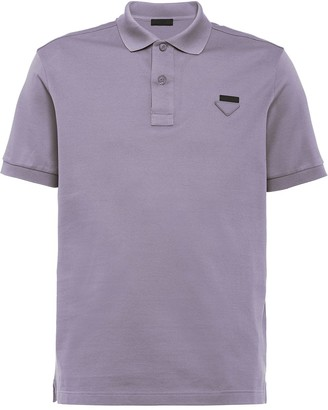 Prada Logo Plaque Polo Shirt