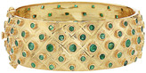 Forever Creations Usa Inc. Forever Creations 18K Gold Over Silver 10.40 Ct. Tw. Emerald Bangle