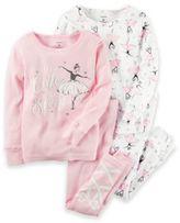 Carter's 4-Piece Ballerina Pajama Set in Pink
