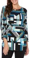 Rafaella Geometric-Print Cotton Tunic