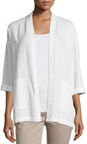 Eileen Fisher Organic Cotton Open-Front Boxy Jacket