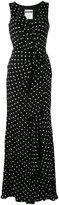 Moschino polka-dot gathered dress - women - Silk - 40