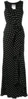 Moschino polka-dot gathered dress - women - Silk - 44