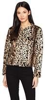 BB Dakota Women's McKinley Leopard Faux Fur Jacket