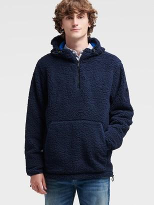 DKNY Men's Sherpa Pullover - Navy - Size S