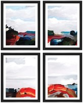 PTM Images Abstract Paint I Collage 4-Piece Framed Giclee Set