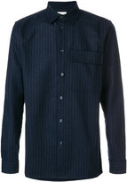 Wood Wood pinstriped chest pocket shirt