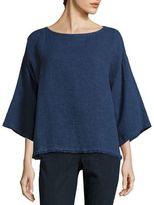 Eileen Fisher Organic Linen & Organic Cotton Box Top