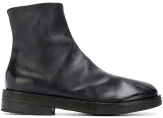 Marsèll cracked-effect ankle boots