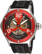 Stuhrling Original Men's 4ATXL.332TT640 Champion Alpine Extreme Automatic Skeleton Rubber Strap Watch
