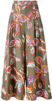 Peter Pilotto floral palazzo trousers - women - Cotton/Spandex/Elastane - 8