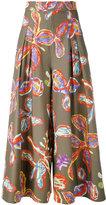 Peter Pilotto floral palazzo trousers - women - Cotton/Spandex/Elastane - 8