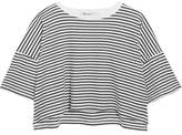 Alexander Wang Striped Cotton-jersey T-shirt - White
