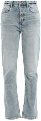 Current/Elliott The Jarvis Distressed Faded High-rise Straight-leg Jeans