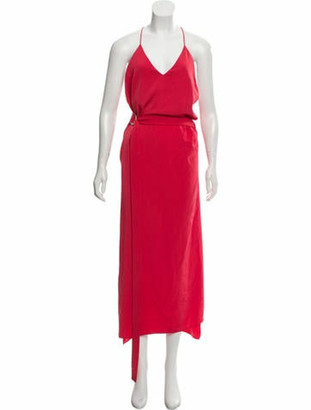 Alexis Sleeveless Maxi Dress w/ Tags Red