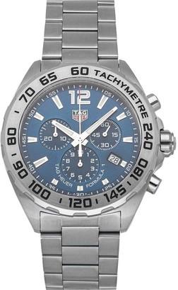 Tag Heuer Blue Stainless Steel Formula 1 Chronograph CAZ101K. BA0842 Men's Wristwatch 43 MM