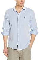 U.S. Polo Assn. Men's Long Sleeve Classic Fit Horizontal Stripe Sport Shirt