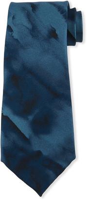 Emporio Armani Watercolor Printed Tie
