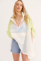 Free People Nfc Billie Color Block Poncho by NFC at Free People, Yellow / Pink Combo, One Size