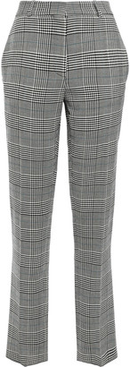 Victoria Beckham Prince Of Wales Checked Jacquard Tapered Pants
