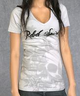 Rebel Spirit Gray Angel Wings 'Rebel Spirit' Tee - Women