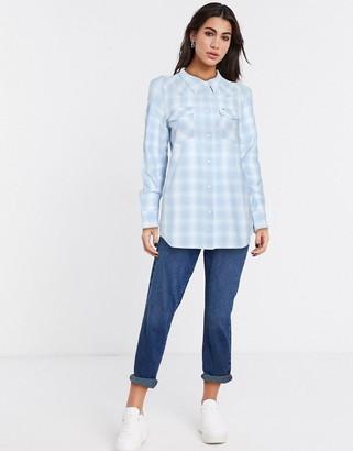Wrangler western check shirt in blue