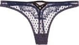 Fleur Du Mal Low-rise corded lace and stretch-tulle thong