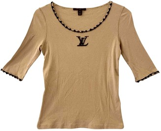 Louis Vuitton Beige Cotton Knitwear for Women