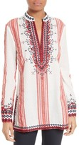 Tory Burch Women's Embroidered Tory Tunic