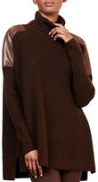 Lauren Ralph Lauren Oversized Wool Turtleneck Cardigan