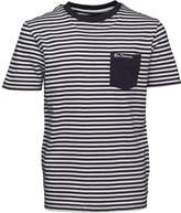 Ben Sherman Junior Boys Fine Stripe T-Shirt Navy Blazer