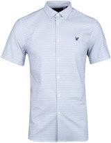 Lyle & Scott Present Blue Fine Strip Oxford Shirt