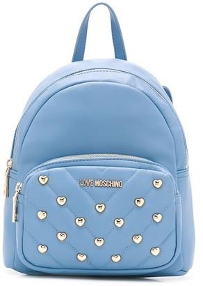 Love Moschino Studded Logo Backpack