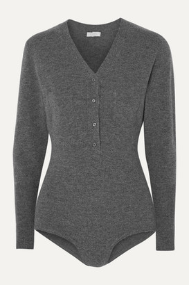 Eres Attitude Wool And Cashmere-blend Bodysuit - Gray