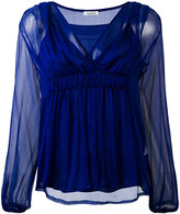 P.A.R.O.S.H. ruched V-neck top